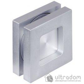 Ручка-ракушка для стеклянных дверей HAFELE, врезная квадратная 70x70 мм image