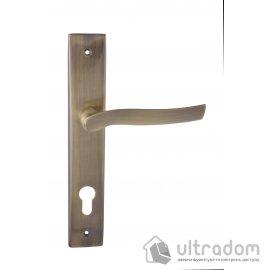 Дверная ручка на планке под ключ (85-62 мм) SIBA Verona античная бронза image