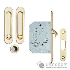 Ручки - ракушки для раздвижных дверей SIBA с механизмом WC, латунь полированная (S223 PB) image