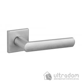 Дверная ручка DND by Martinelli LUCE 02 на квадратной розетке VIS матовый хром image