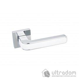 Дверная ручка на розетке SIBA NANO белый / хром полированный (E10 0 10 07) image