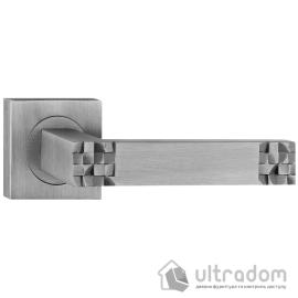 Ручка дверная на розетке SIBA MADRID мат. никель - хром image