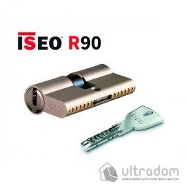 Цилиндр дверной ISEO R90 кл-кл, матовый хром 90 мм image