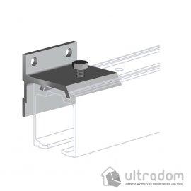 Настенный крепеж для направляющей рельсы Valcomp H2 , дверь до 25 мм. image