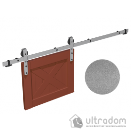 Комплект фурнитуры раздвижной системы Mantion THOR в стиле LOFT, матовый серый image