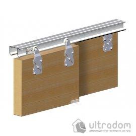 Valcomp HORUS комплект подвесной системы для 2-ух раздвижных дверей шкафов image