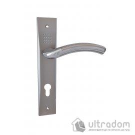 Дверная ручка на планке под ключ (85-62 мм) SIBA Bari мат.никель-хром image