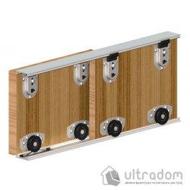 Набор роликов Valcomp ARES 2 для шкафа-купе, 2 двери. image