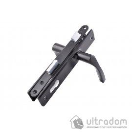 Набор замка профильного JANIA 90/22 мм, цвет - черный. image