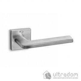 Ручка дверная Convex 1085 на квадратной розетке матовый хром image