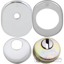 Securemme Комплект броненакладка для  цилиндра со штоком (овальная) image