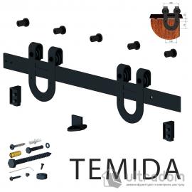Valcomp TEMIDA комплект раздвижной системы для дверей в стиле LOFT image
