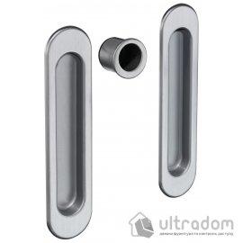 Ручки - ракушки для раздвижных дверей AGB, 2 шт, цвет - мат.хром image