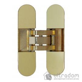 Скрытая дверная 3D петля OTLAV Invisacta IN300 30х120 мм  полированное золото image
