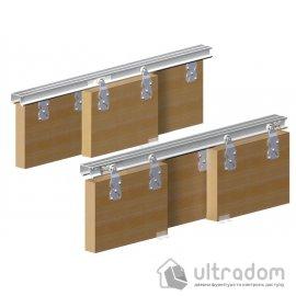 Valcomp HORUS комплект подвесной системы для 3-х раздвижных дверей шкафа-купе image