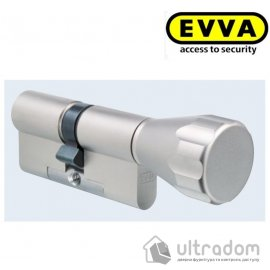 Цилиндр дверной EVVA 3 KS KZ кл-вороток никель 77 мм image