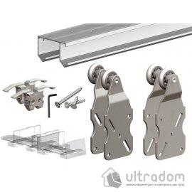 Комплект подвесной раздвижной системы для шкафа-купе Valcomp HORUS HR18 для 2-ух дверей  до 45кг (212-013) image