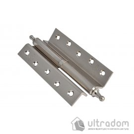 Стальные угловые петли с декором Imperial 125 мм. , SN - матовый никель image