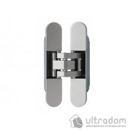 Скрытая дверная 3D петля OTLAV Invisacta IN235 23х120 мм НЕЙЛОН матовый хром image
