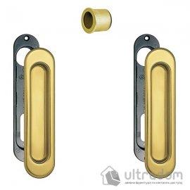 Ручки - ракушки для раздвижных дверей AGB, 2 шт, цвет - пол.латунь image
