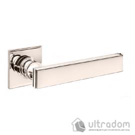 Дверная ручка DND by Martinelli LUCREZIA 02 на квадратной розетке R  полированный никель image