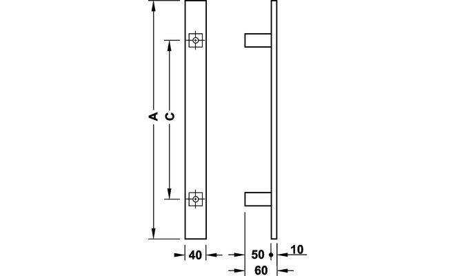 Ручка для стеклянных дверей HAFELE COSIMO 10
