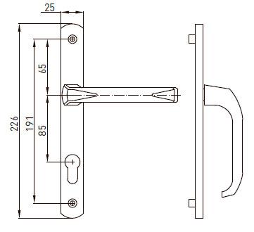 Нажимной гарнитур IMAT 85/25 мм,