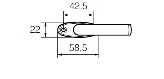 Ручка оконная ABLOY 55/152