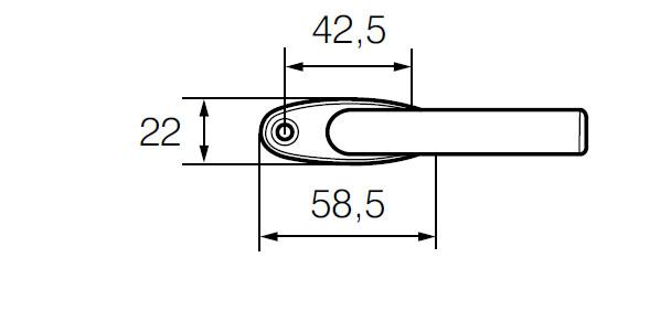 Ручка оконная ABLOY 56/152