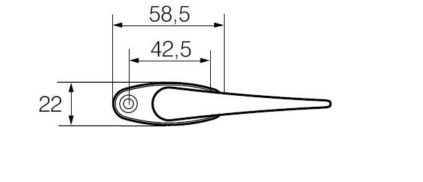 Ручка оконная ABLOY 59/152