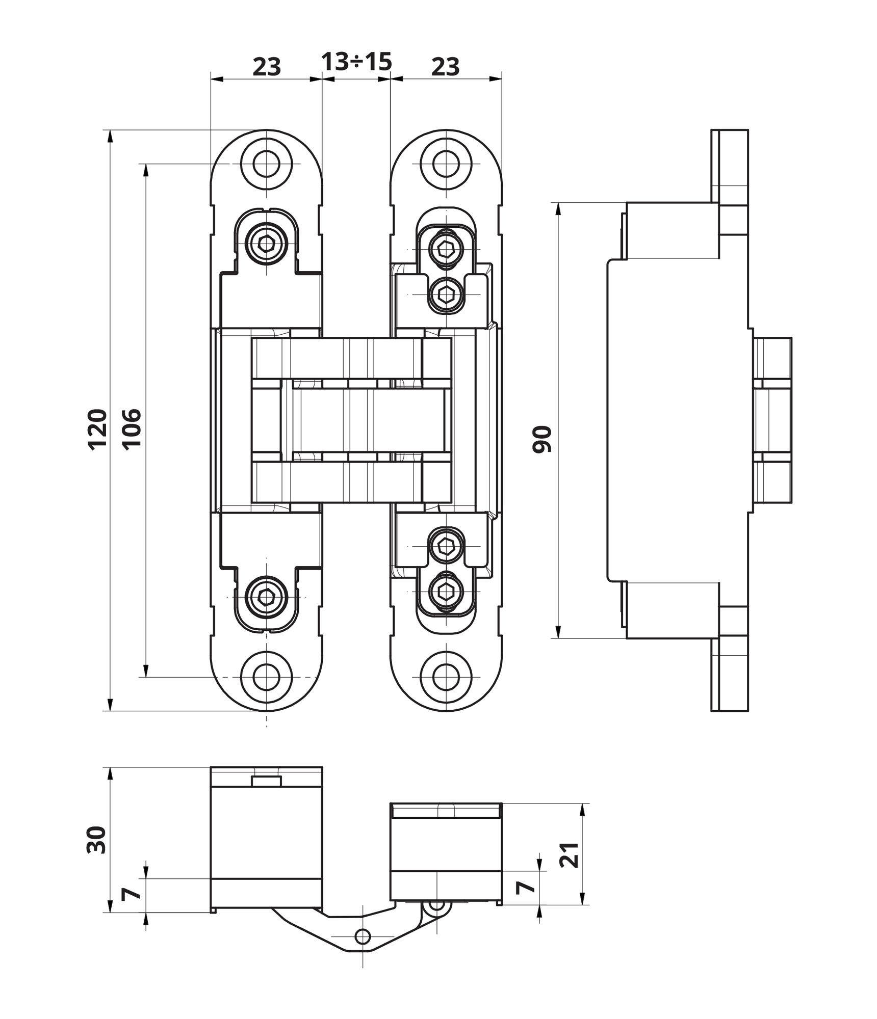 3D петля OTLAV Invisacta IN230