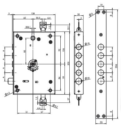 Замок основной MUL-T-LOCK Omega OFMPB10328L